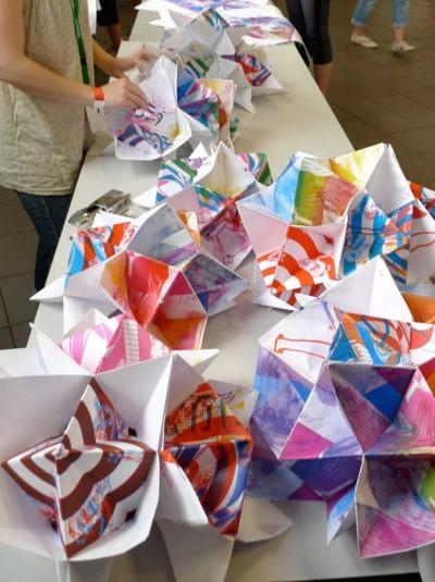 hip hop and maur' : sérigraphie et origami